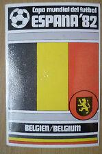 1982 COPA MUNDIAL DEL FUTBOL STICKER- BELGIEN/ BELGIUM- ESPANA 82 (12x8 cm)