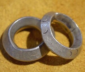 Image Is Loading 2 Antique Ethiopian Handmade Br Metal Wedding Rings