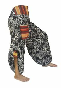 Hmong-Hill-Tribe-pants-Hippie-Boho-Samurai-Trousers-KP1