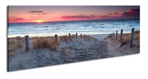 Strand nordsee sonnenuntergang  Panoramabild Leinwandbild Wandbild Strand Nordsee Sonnenuntergang | eBay