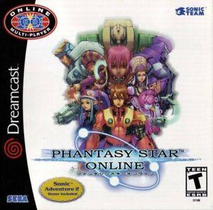 SEGA-Dreamcast-Spiel-Phantasy-Star-Online-US-mit-OVP-sehr-guter-Zustand
