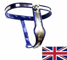 Full Female Chastity Belt/Device Stainless Steal Heavy Duty BLUE 65-90cm