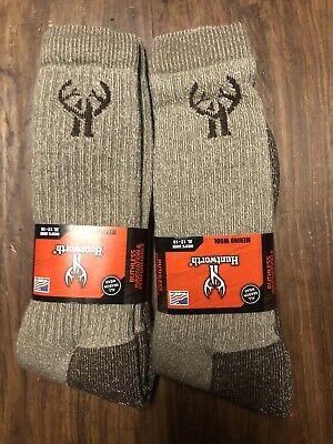 Huntworth Full Cushion Wool Blend Boot Sock 10-13 2 pack