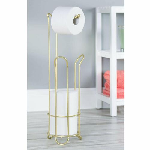 Pearl Gold Free Standing Toilet Paper Holder 4 Roll Stand Bathroom Accessories