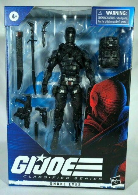"Hasbro 6"" GI Joe Classified Wave 1 SNAKE EYES Action Figure In Hand"