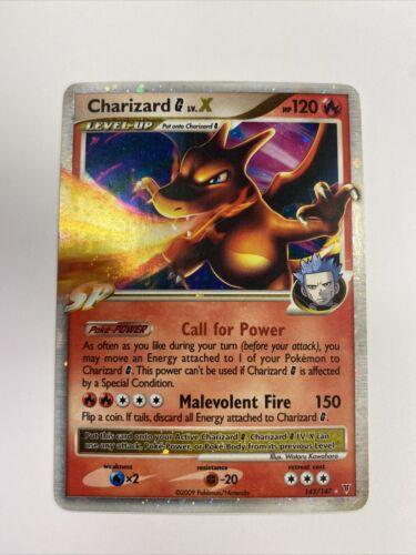 CHARIZARD G LV. X SUPREME VICTORS 143/147 LP Holo Pokemon Card 2009 Nintendo