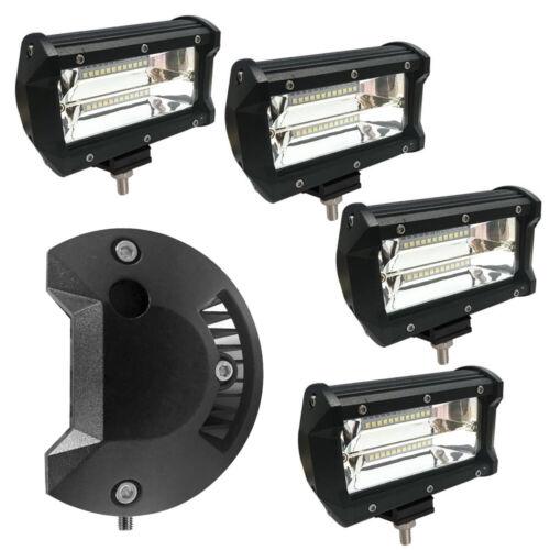 4x LED Arbeitsscheinwerfer 72W Offroad Scheinwerfer Flutlicht SUV LKW IP67 DHL