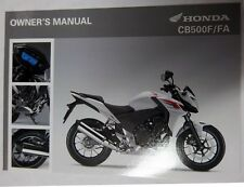 Manual de Usuario Owner's Manual Honda CB500F/FA 00X32-MGZ-A010