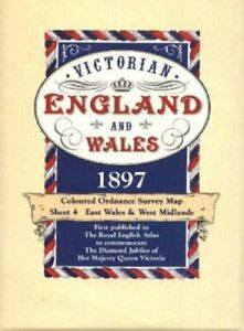 Victorian-Maps-England-and-Wales-1897-by-J-G-Bartholomew-Mixed-media-product