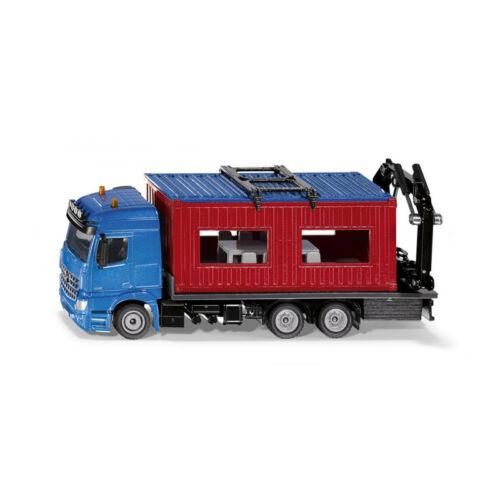 ° Siku 3556 LKW mit Baucontainer blau//rot Maßstab 1:50 Modellauto NEU