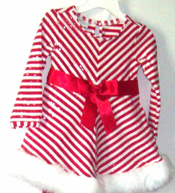 New Bonnie Jean Christmas Outfit Red/White with Red Leggings SZ 24 Mos NWT - New Bonnie Jean Christmas Outfit Red/White With Red Leggings SZ 24