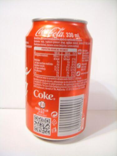 2015 Ed empty Coca Cola can Slovenia leere Dose 330 ml; ANNIVERSARY EDITION