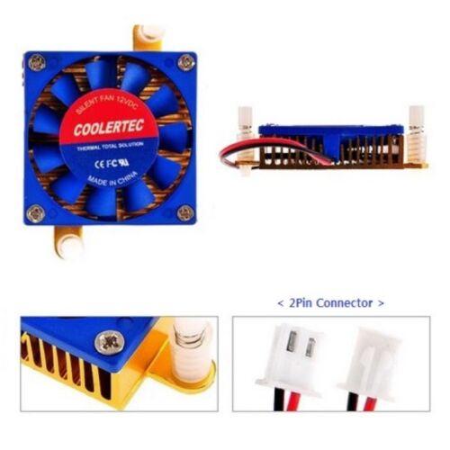 PC Computer Graphics VGA Card Chipset Cooler Aluminum Heatsink Fan 2Pin 45mm T