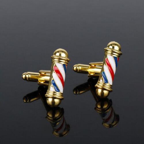 Manschettenknöpfe Barber Shop Pole Cufflinks Barbier Friseur Manschettenknopf