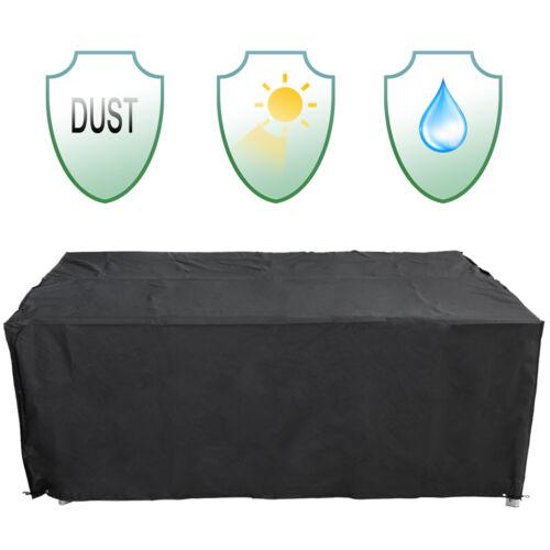 Abdeckplane Abdeckhaube Schutzplane Schutzhülle Regenschutz für Gartenmöbel