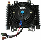 """Aeroflow AF72-6003 10 X 7-1/2"""" Competition Oil and Transmission Cooler with Fan and Switch - Black"""