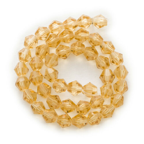 50 Piece Cut/&Faceted Bicone Jewelry Making Crystal Glass Beads 4-8mm