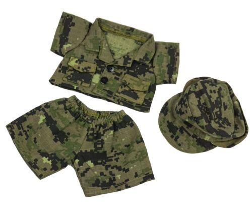 TEDDY BEAR ARMY DIGITAL CAMO w/CAP Outfit CLOTHES Fit 8-10 Build-a-bear !NEW!