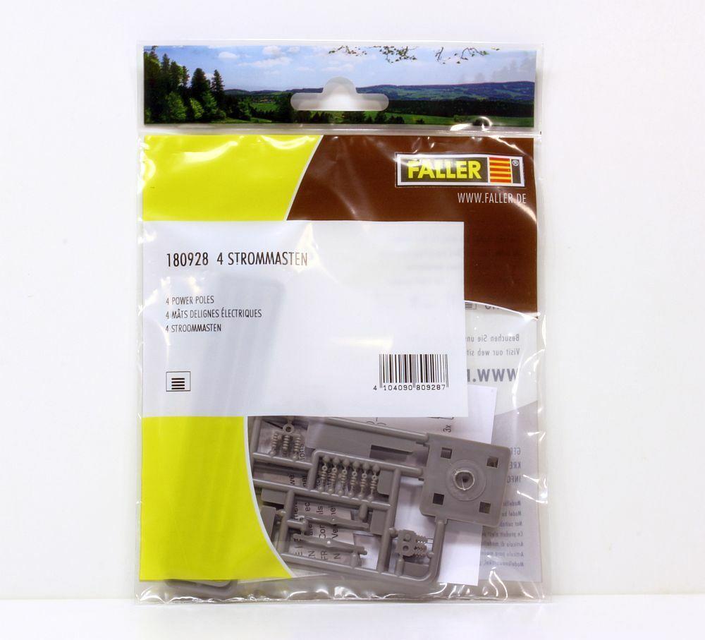 Faller 180928-1//87 H0 4 Strommasten Neu