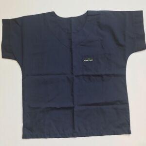 SCRUB-MED-Women-039-s-Scrub-Top-Navy-Blue-Size-10-12-VGUC