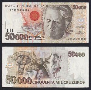 Brasil 50000 Cruzeiros 1992 Spl XF+ A-05