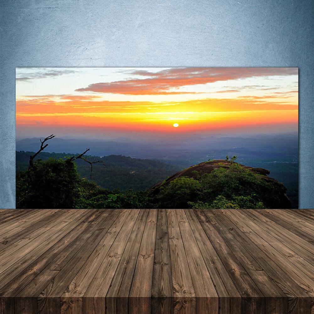 Crédence de cuisine en verre Panneau 140x70 Paysage Montagne Forêts