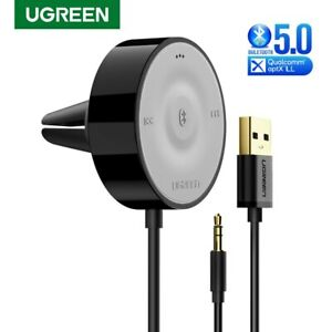 Ugreen-Bluetooth-Receiver-Adapter-5-0-Wireless-Hands-free-Car-AUX-3-5mm-Speaker