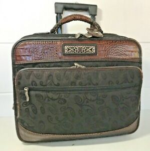 BRIGHTON-Luggage-WEEKENDER-Business-COMPUTER-Brown-TRAVEL-CARRY-ON-Bag
