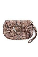 Anya Hindmarch Python Wristlet Clutch Bag / Brown / RRP: £680.00