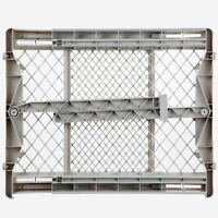 North States Top-Notch Plastic Pressure Mounted Baby Gate Pet Safety Gate   8699