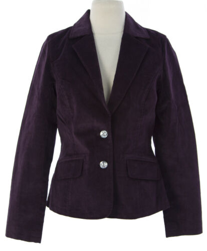 PRIORITIES Women/'s Plum Double Button Long Sleeve Jacket S0112 Sz M $187 NEW