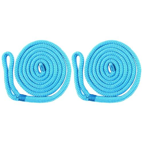 """Fender Line PAIR 1//4/"""" x 6/' BLUE DOUBLE BRAIDED Nylon Boat Rope Factory Outlet"""