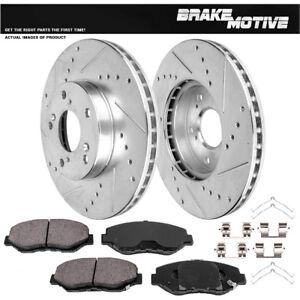 Front Brake Rotors Drill Slotted For Honda Accord Coupe Sedan Civic CR-V Element