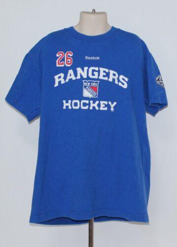 ... New York Rangers Martin St Louis Reebok 2014 Stanley Cup Kids Med Blue  T Shirt e40fbacff