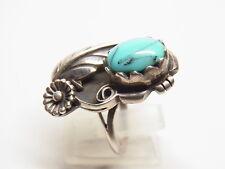 Indianerschmuck Navajo Zuni Feder Ring Türkis Gr.59  Silber Silberring  Nr.190