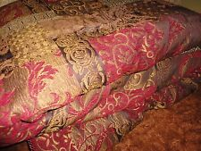 CROSCILL GALLERIA TUSCAN BROWN UMBER RED KING/CALIFORNIA COMFORTER KING 109 X 95