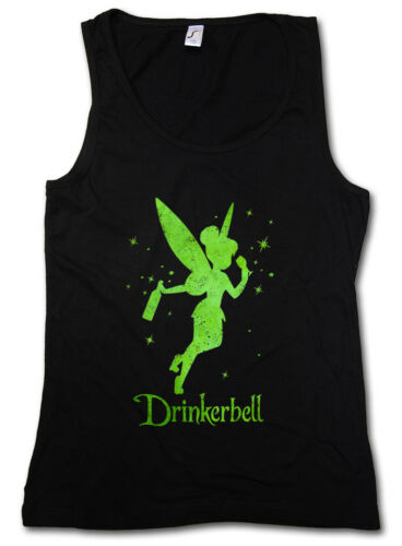 Drinkerbell Damen Tank Top Fun Alcohol Drunk wasted intoxicated Party drunken