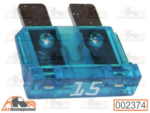 pour Peugeot 205 309 405 605-2374 2 FUSIBLES 15 ampères 15A FUSE
