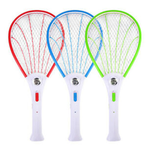 Electric-Bug-Insect-Pest-Fly-Mosquito-Killer-Swatter-Zapper-Racket-Rechargeable