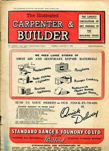 Periodical THE ILLUSTRATED CARPENTER amp BUILDER AUGUST 1945 FOUR  ISSUES 1945 P - <span itemprop=availableAtOrFrom>Llanwrda, United Kingdom</span> - Items may be returned within seven days if found not to be as described. Returns for reasons other than this must be by prior arrangement. Most purchases from business sellers are protec - Llanwrda, United Kingdom