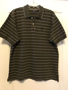 721e1842320 PO Men IZOD Sz Large Olive Green & White Geometric Print Short ...