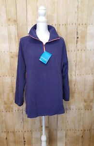 Columbia-Women-039-s-Sweater-Plus-Size-Glacial-Fleece-Blue-Top-Pullover-Size-XL