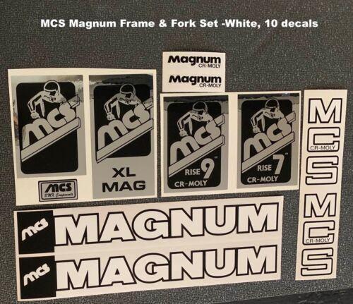 For Restoration White Letters Outlined in Black MCS Magnum FRAME DECAL SET