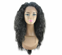 14-24 Front Lace Wigs Loose Wave Synthetic Ombre Piano T Color Natural Black 1b