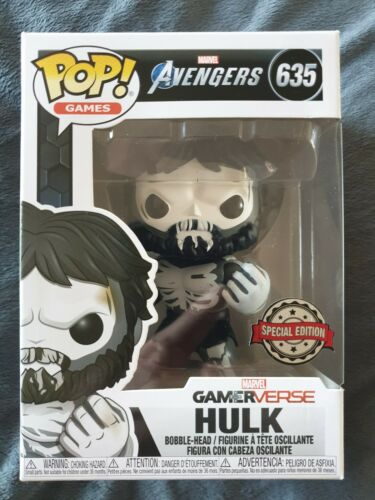 Comme neuf condition MARVEL AVENGERS Punisher Hulk Exclusive FUNKO POP RARE #635