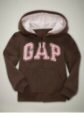 NEW Baby GAP GIRL Fauxfur Embellished Arch Logo Hoodie Sweatshirt Grey 12-18M 2T