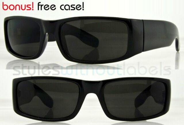 1500789edb7 Square Cholo Wrap Sunglasses Super Dark Lens LOC OG Frames Biker Eazy E  Shades