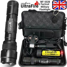 Ultrafire WF-502B 250000LM Flashlight T6 LED Tactical Military Torch Headlamp