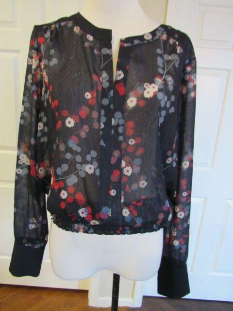 Lauren Ralph Lauren Womens Black Embroided Mesh Tank Top Shirt S BHFO 9193