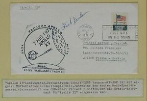 S1179-Viaje-Al-Espacio-Space-Apollo-XV-Tracking-Usns-Vanguard-Autograph-Dick